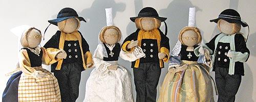 poupee bretonne 3 couples